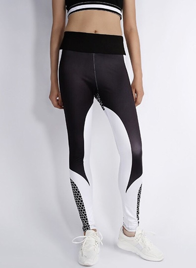 Skinny Color Block Women's Yoga Pants