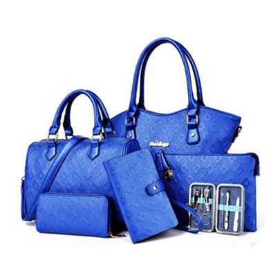 Elegant Embossing Women Bag Set (Six Bags Set)