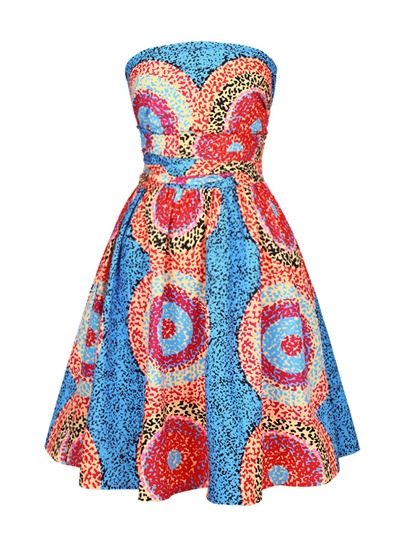 Color Block Multi-Way Women's Day Dress