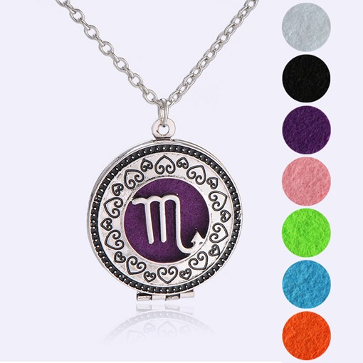 Silver Plated Bronze Locket Essential Oil Diffuser Necklace