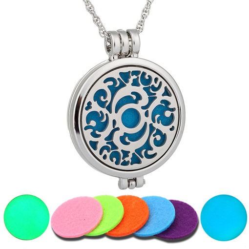 Stainless Steel Essential Oil Diffuser Locket Necklace