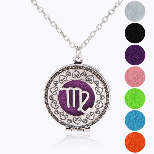 Health Cotton Cushion Aromatherapy Locket Necklace