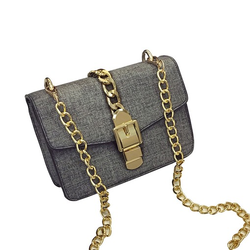 Chic Belt Decorated Chain Cross Body Bag