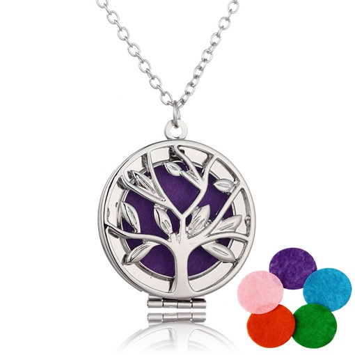 Life Tree Locket Essential Oil Diffuser Necklace