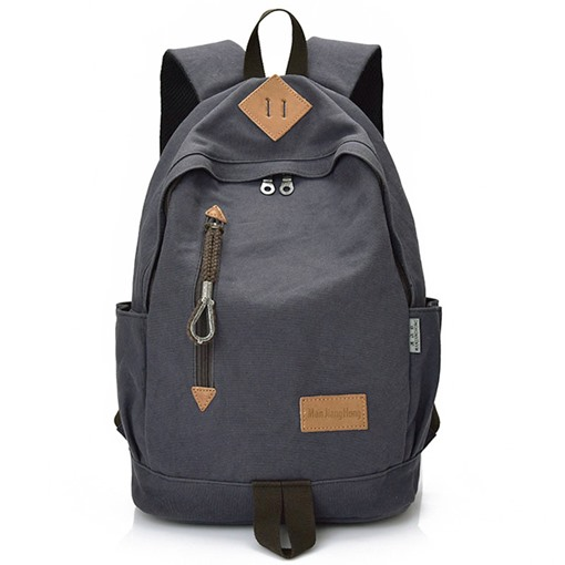 Simple Atmospheric100% Pure Cotton Canvas Men's Backpack