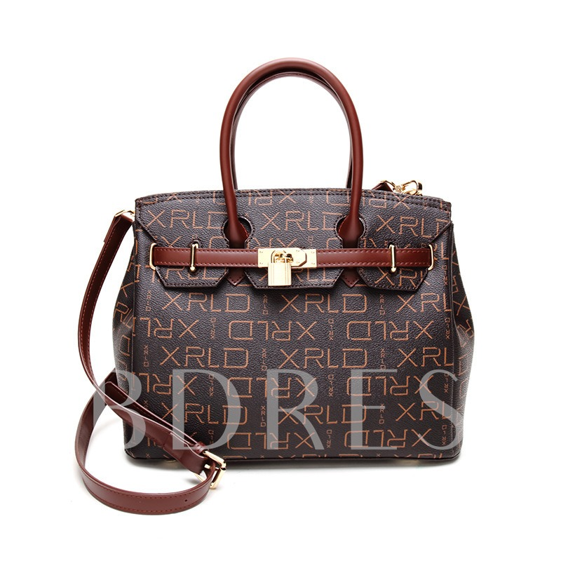 Stylish Letter Prints Women Tote