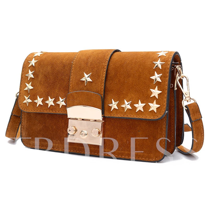 Casual Star Decoration Matting Crossbody Bag