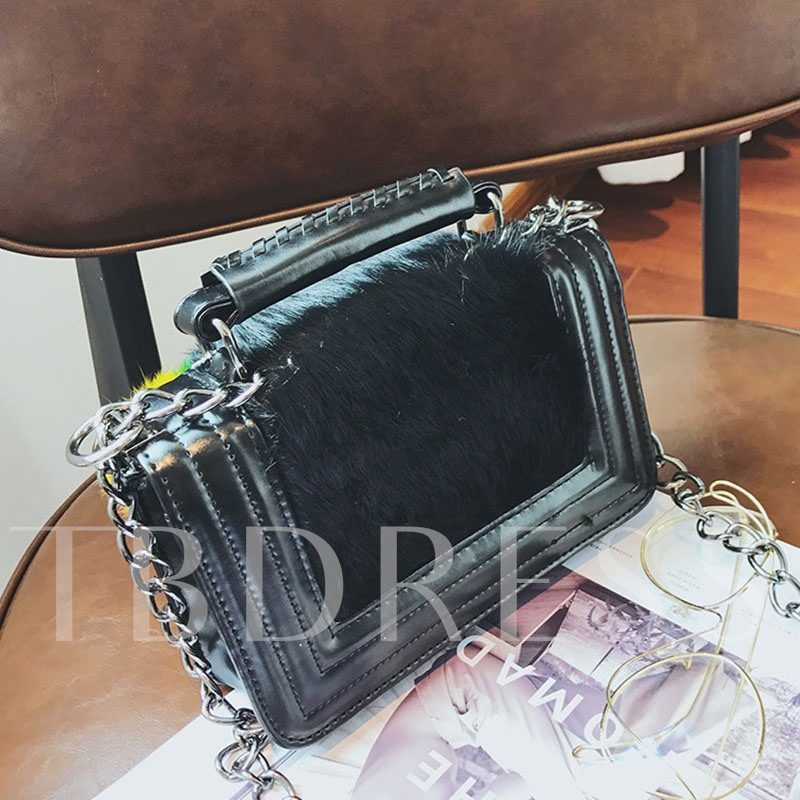 Fashion Ball Decoration Chain Cross Body Bag