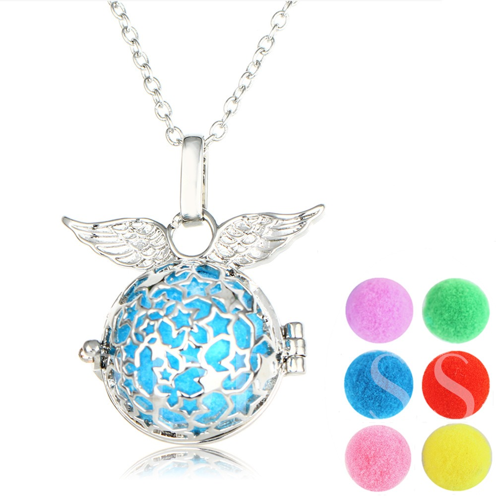 Locket Wing Shaped Essential Oil Diffuser Necklace