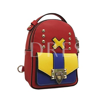 Personality Design Zipper Women Backpack