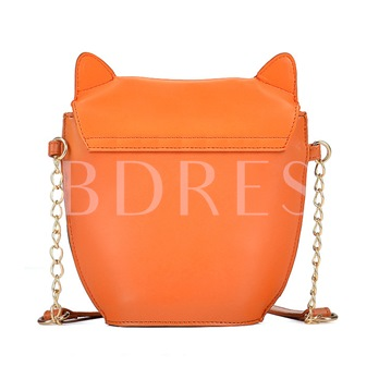 Lovely Fox Design Chain Mini Cross Body Bag