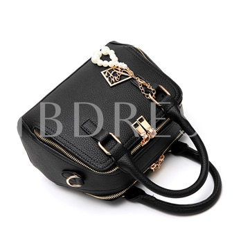Well Match Exquisite Pendant PU Tote