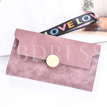 Candy Color Matting Women Wallet