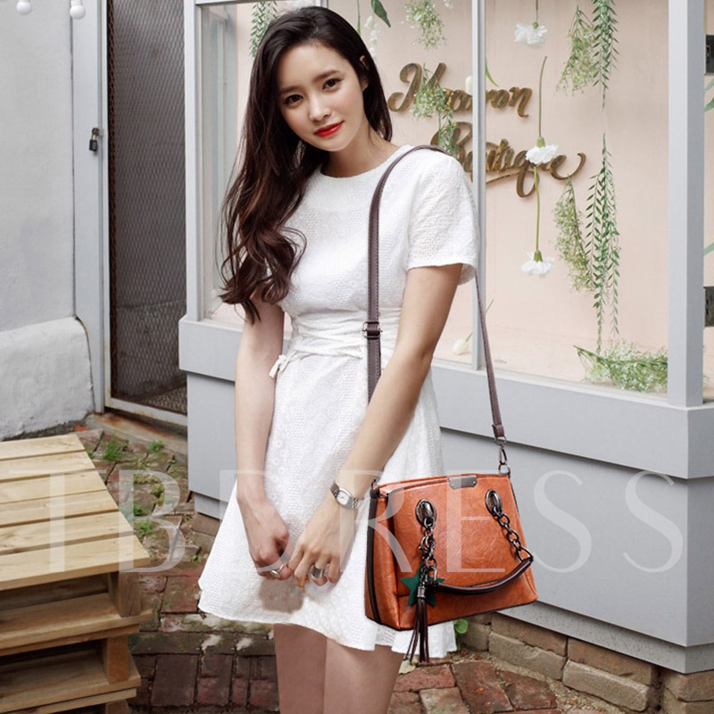 Ladylike Exquisite Pendant Zipper Women Tote