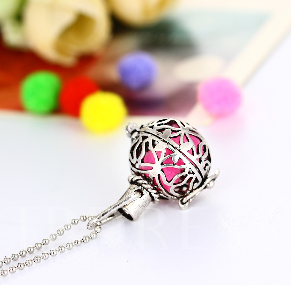 Beads Chain Hollow Out Essential Oil Diffuser Necklace
