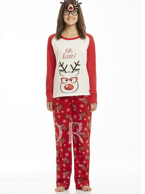 Christmas Family Pajamas Cartoon Women's Suit