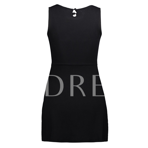 Floral Embroideried Hollow Women's Bodycon Dress