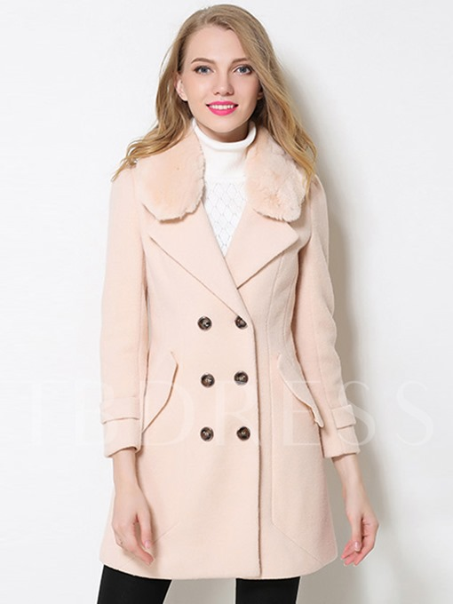 Thick Double-Breasted Slim Fit Women's Winter Overcoat