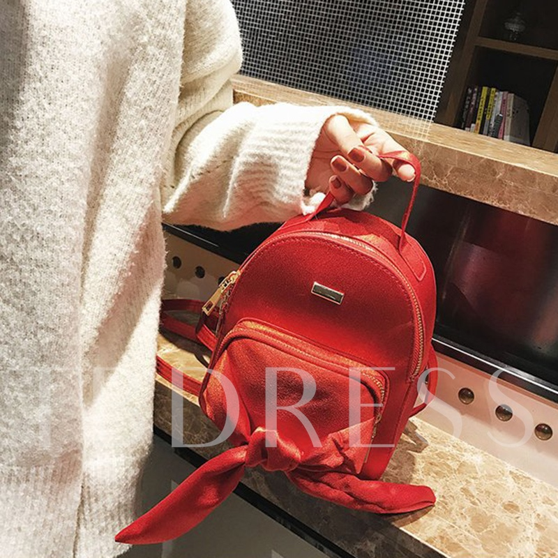 Lovely Silk Scarf Bowknot Mini Backpack