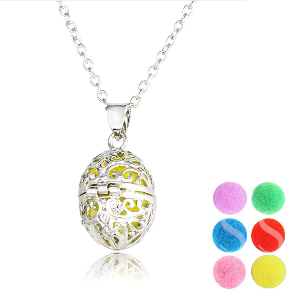 Ball Shaped Cotton Essential Oil Diffuser Necklace
