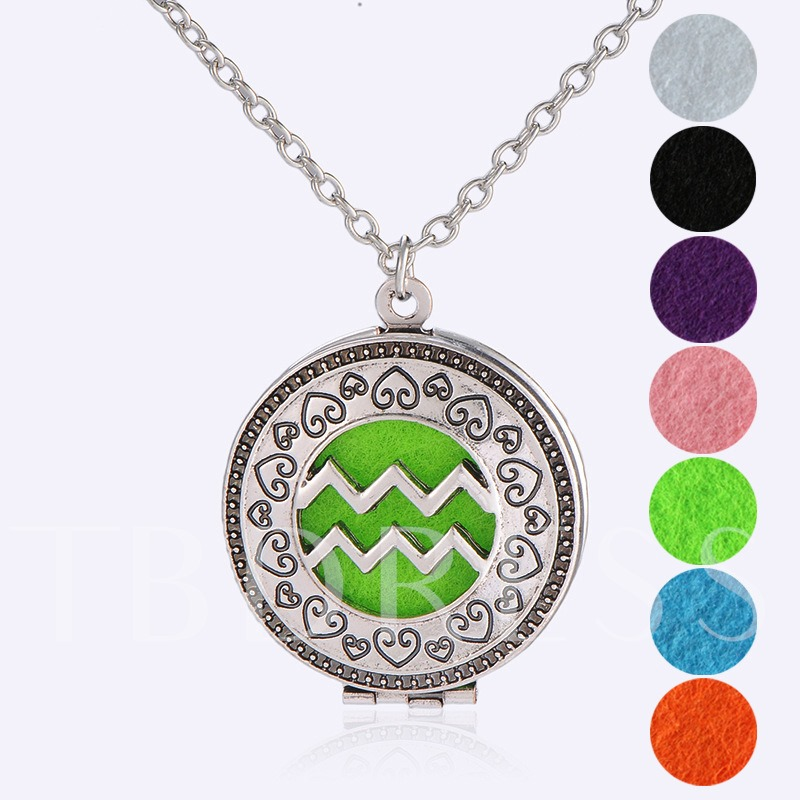 Aromatherapy Essential Oil Diffuser Aquarius Necklace