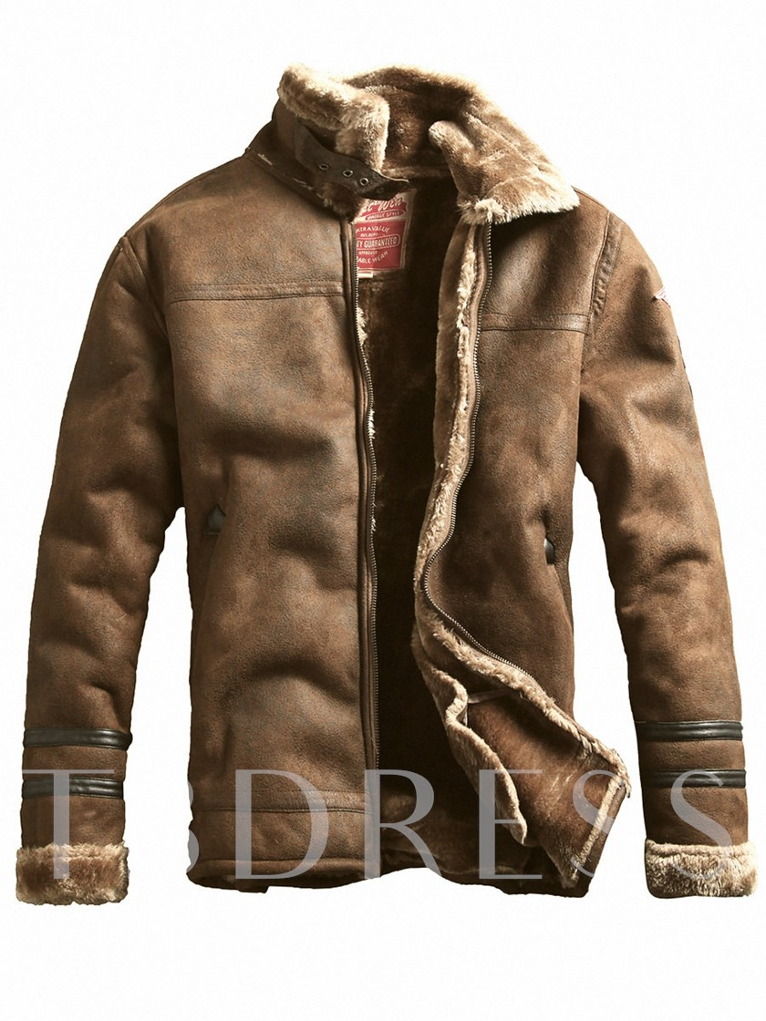 Lapel Thicken Warm Vintage Zipper Slim Fit Men S Jacket