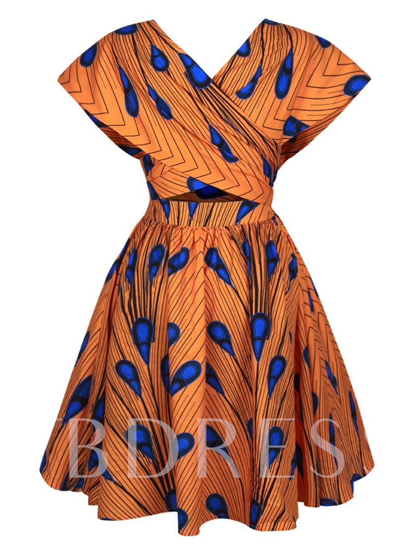 Peacock Plumes Multi-Way Women's Day Dress