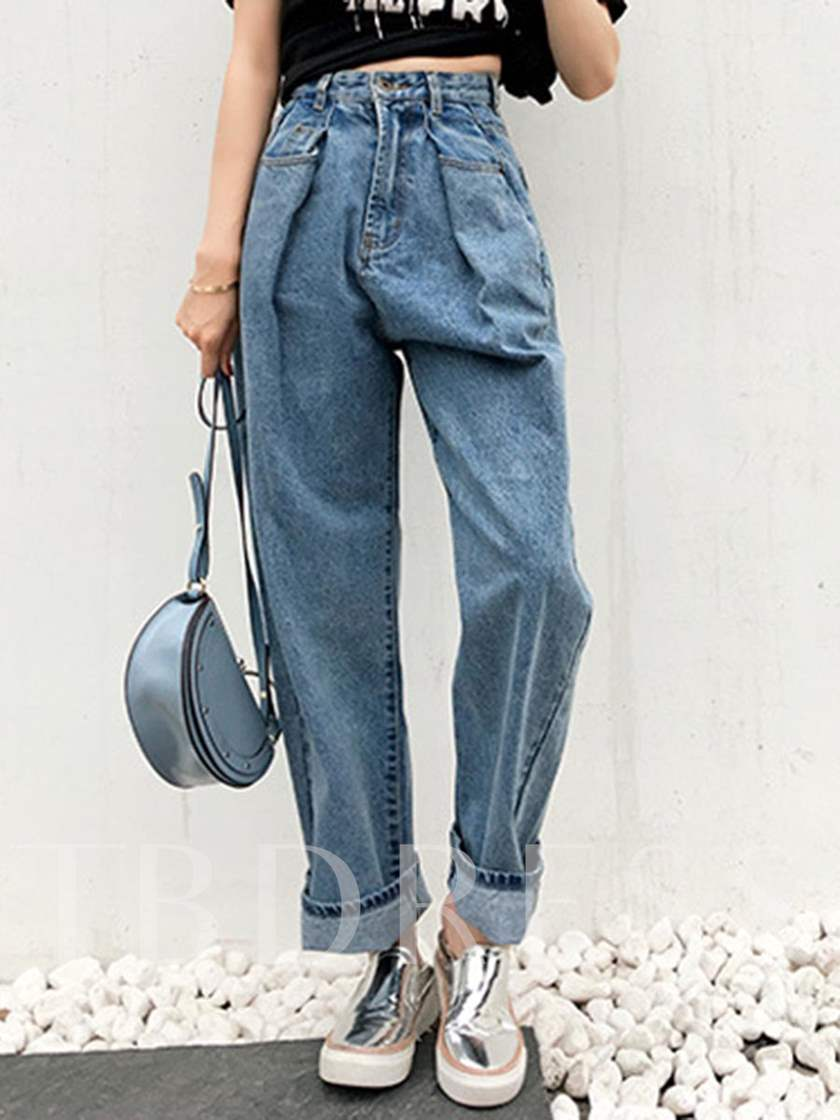 Loose High Waist Women's Mom Jeans