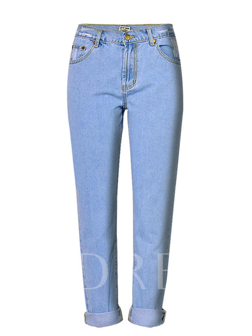 Loose Straight Women's Mom Jeans
