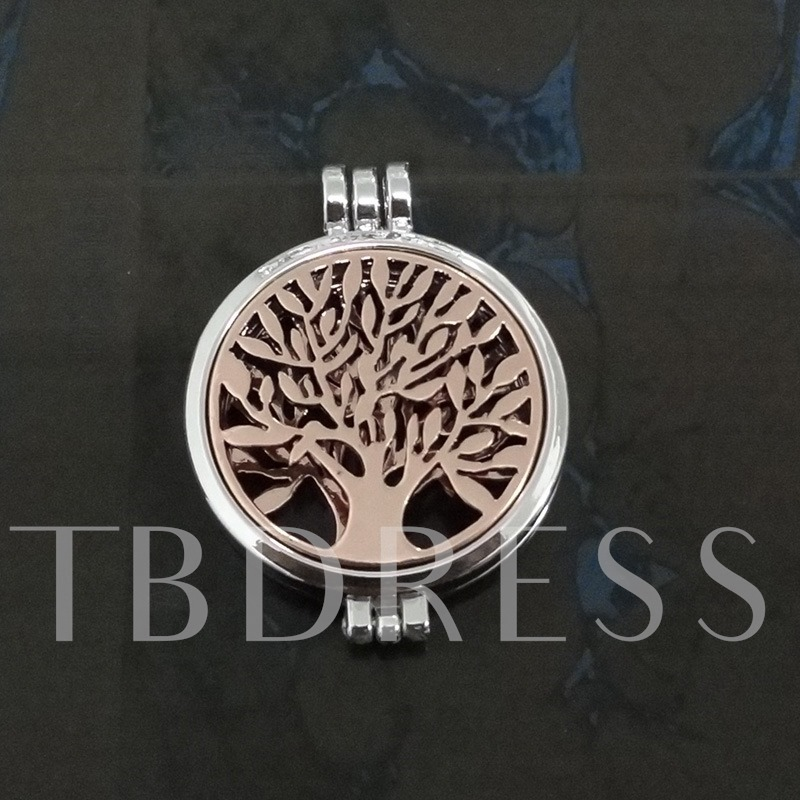 Noctilucence Alloy Essential Oil Diffuser Silver Plated Necklace