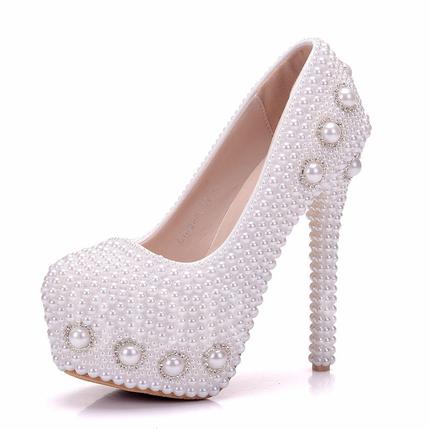 Buy Platform Full Beads Rhinestone Women's High Heel Wedding Shoes, Spring,Summer,Fall, 13095565 for $72.99 in TBDress store