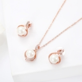 Imitation Pearl Link Chain Jewelry Sets