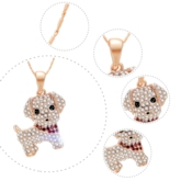 Cute Dog Full Drill Golden Jewelry Sets