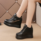 Letter High Platform Height Increase Women's Sneakers