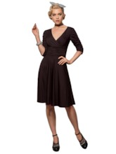 Plain Mid-Calf Pleated Spandex Women's Day Dress