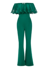 Falbala Hollow Off Shoulder Women's Jumpsuits