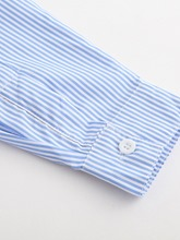 Mid-Length Stripe Patchwork Women's Shirt