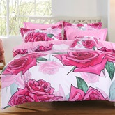 Floral Rose Four-Piece Set Bedding Sets
