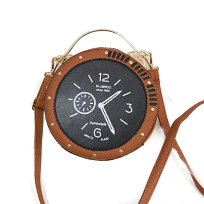 Distinctive Clock Design Cross Body Bag