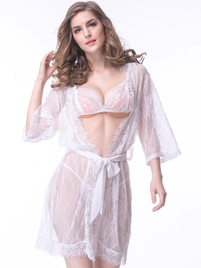 Sexy Lingerie See-Through Lace Women Babydolls