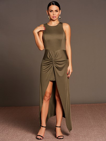 Bodycon Double-Layered Women's Maxi Dress