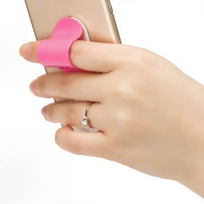 U-type Ring Grip Phone Holder,Adjustable Stickup Anti-fall Stand
