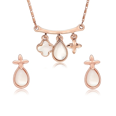 Four-Leaf Clover Pear Arc Jewelry Sets