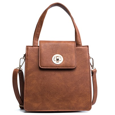 Solid Color Embossing Women Tote