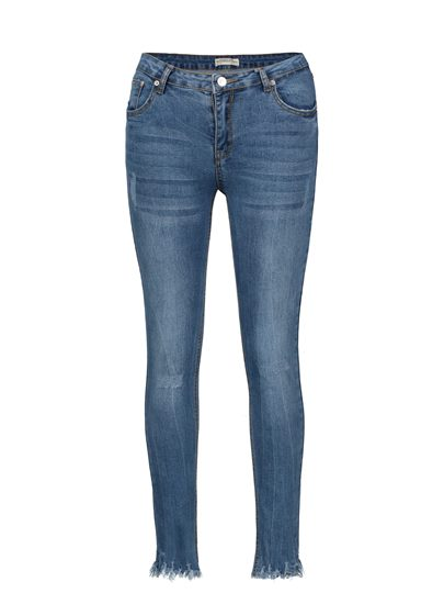 Skinny Mid-Waist Ankle Length Women's Jeans