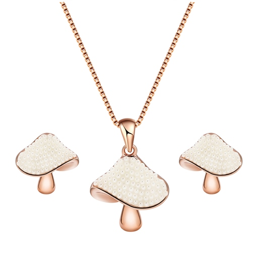 Mushrooms Shaped Alloy Jewelry Sets