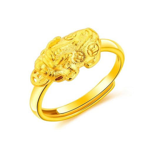 Opening 24K Overgild Copper Mythical Creatures Ring
