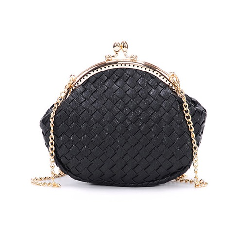 Casual Knitted Pattern Chain Crossbody Bag