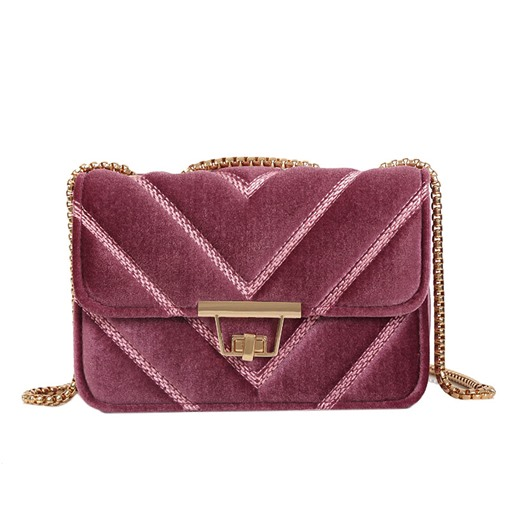 Vogue Solid Color Chain Cross Body Bag