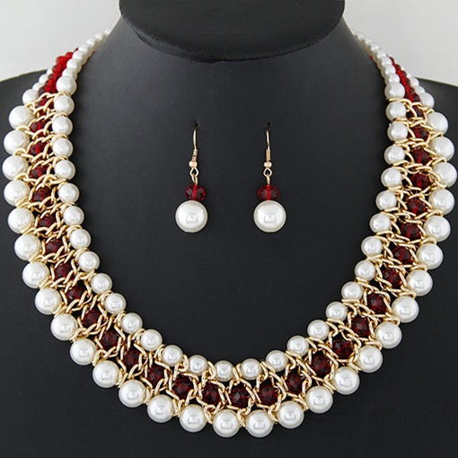 All Match Imitation Pearl Alloy Jewelry Sets
